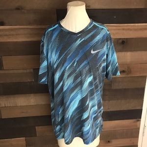 Nike Running blue athletic shirt men's Xl